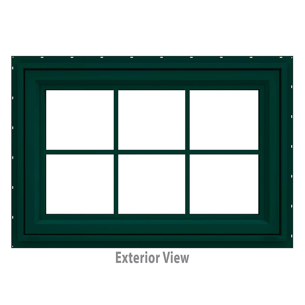 35.5 in. x 23.5 in. V-4500 Series Green Painted Vinyl Awning