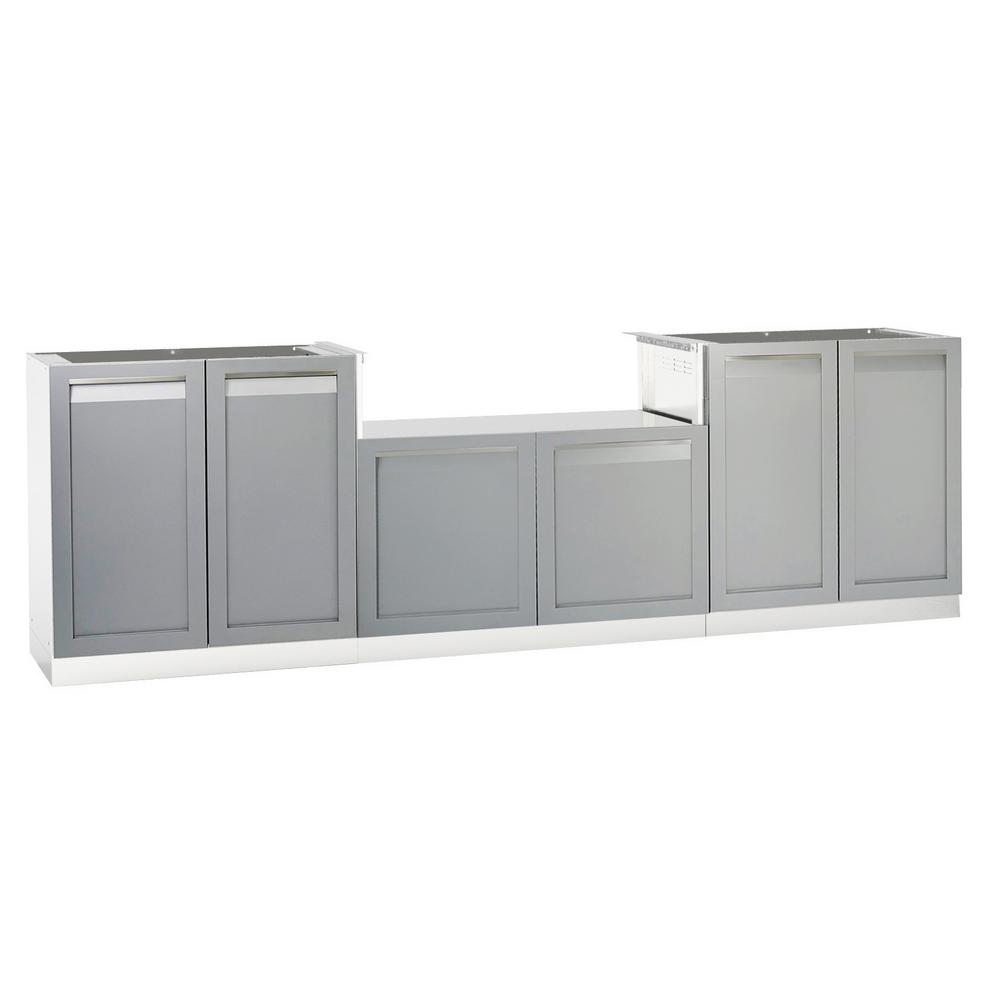 NewAge Products Stainless Steel Classic 32 In. 2 Door Base