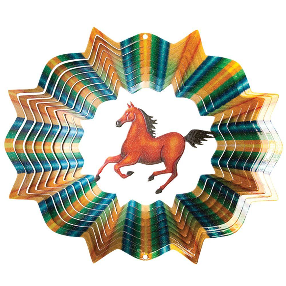 Iron Stop 6.5 in. Horse Wind Spinner