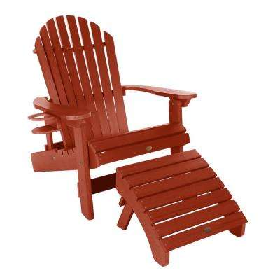 King Hamilton Rustic Red 3-Piece Recycled Plastic Outdoor Seating Set