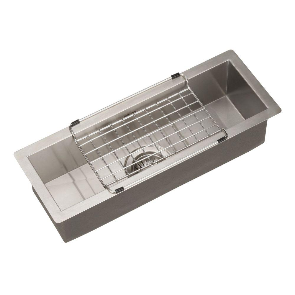 HOUZER Contempo Series Undermount Stainless Steel 23 In. Single Bowl  Bar/Prep Sink