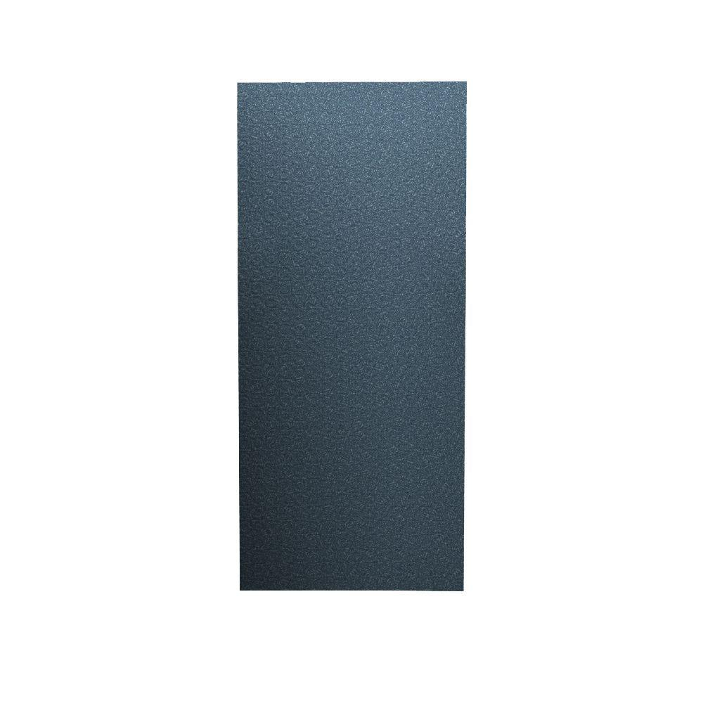 Swanstone Barcelona 1/4 in. x 36 in. x 96 in. One Piece Easy Up Adhesive Shower Wall in Wild Indigo-DISCONTINUED