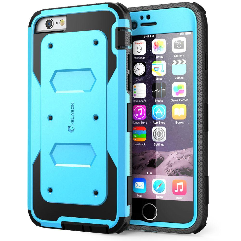more photos 2b6d4 3598c i-Blason Armorbox Full-Body Protective Case for Apple iPhone 6/6S Plus 5.5  Case, Blue
