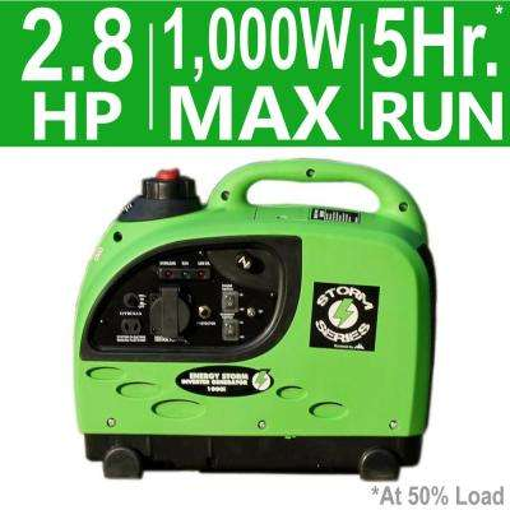 Energy Storm 1,000/900-Watt 53cc Gasoline Powered Inverter Generator with CARB