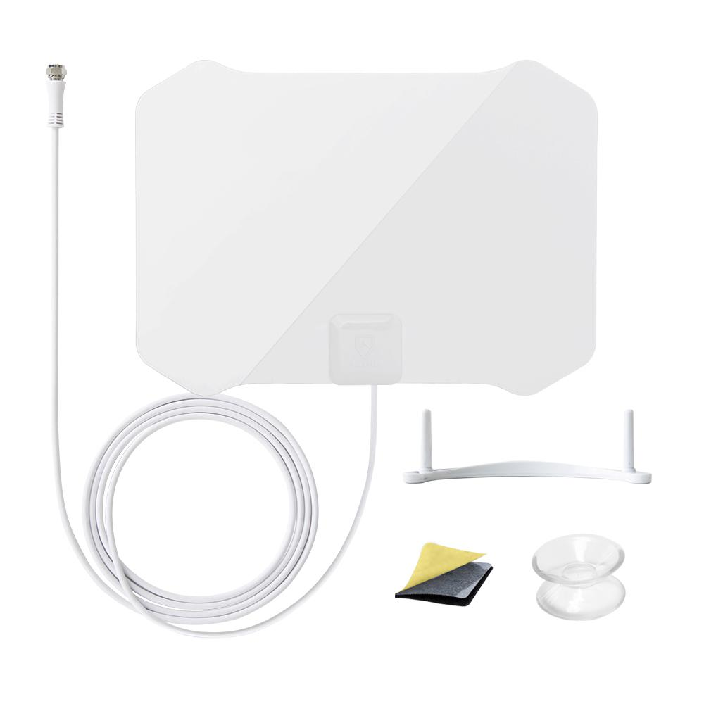 Paper Thin Indoor HDTV Antenna with Table Stand 35 Mile