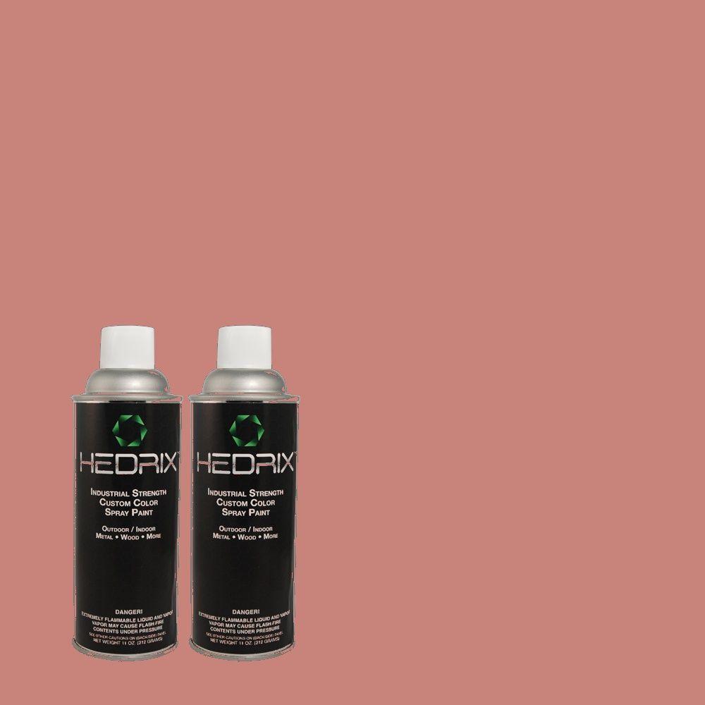 Hedrix 11 oz. Match of MQ1-12 Chick Flick Semi-Gloss Custom Spray Paint (8-Pack)