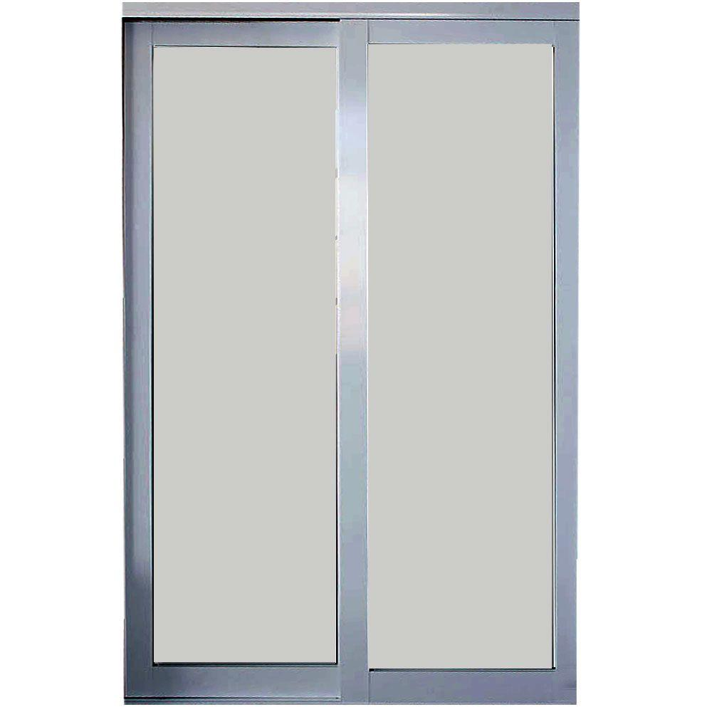 84 in. x 81 in. Eclipse Mystique Glass Satin Clear Finish