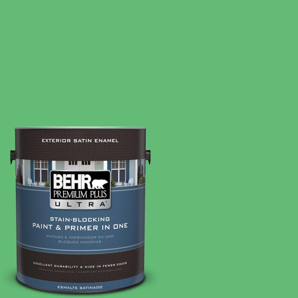 BEHR Premium Plus Ultra 1-gal. #450B-5 Lady Luck Satin Enamel Exterior Paint