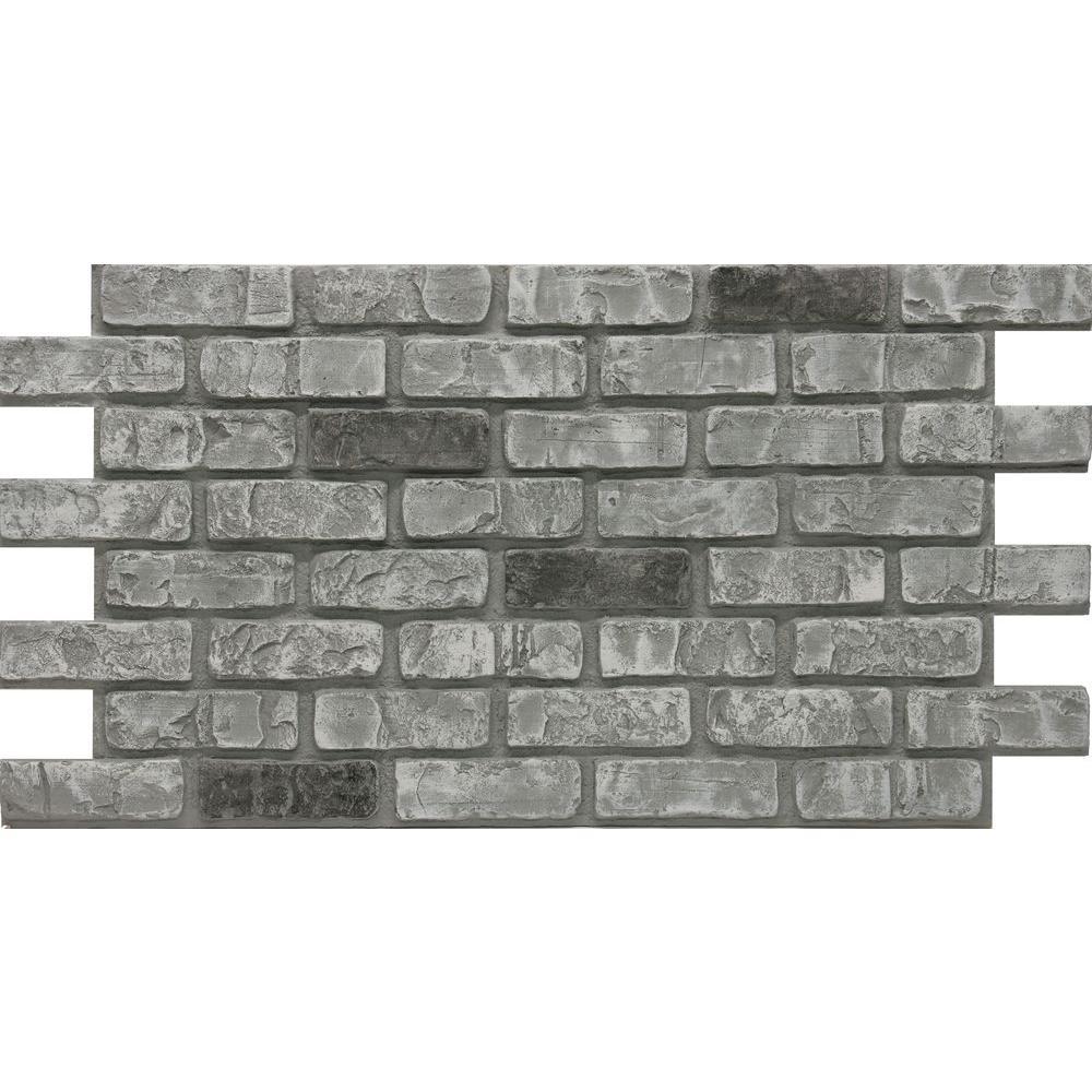 Urestone cape cod 24 in x 46 3 8 in x faux used brick for Brick stone siding
