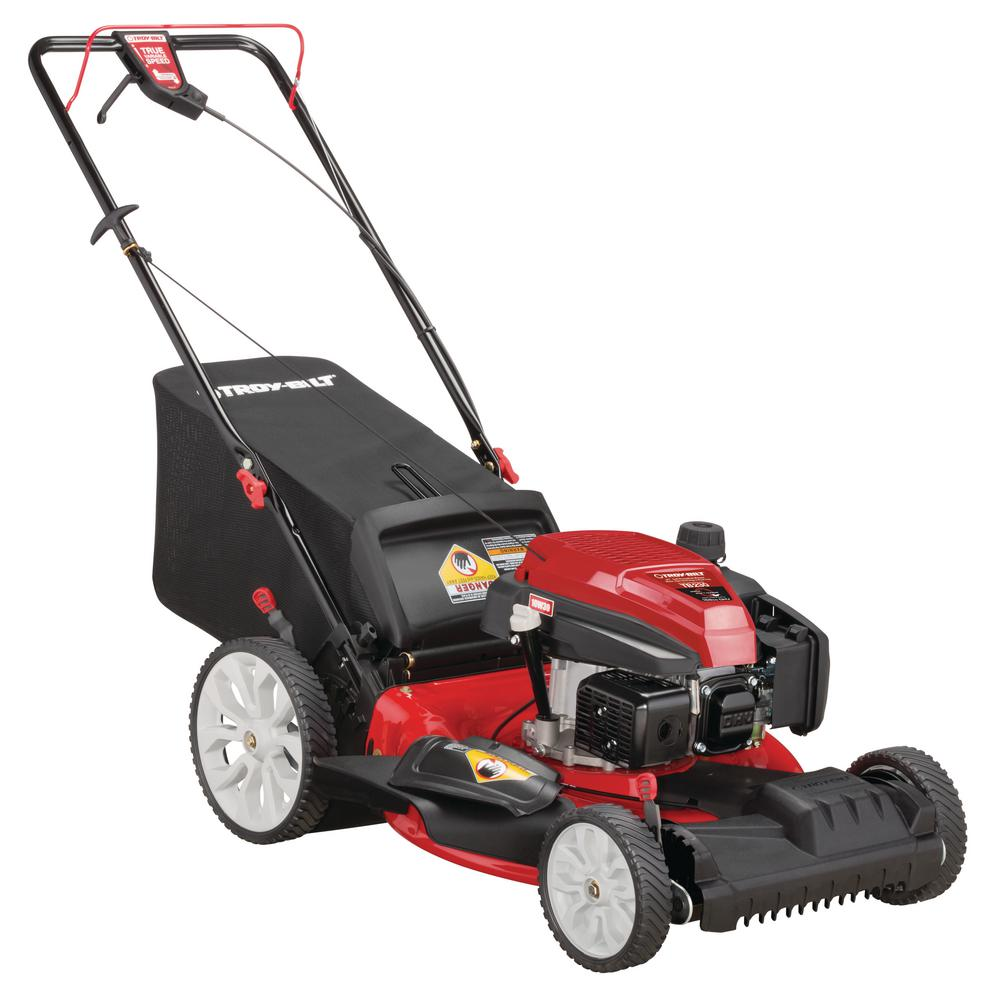 Troy-Bilt 21 in  159 cc Gas Walk Behind Self Propelled Lawn Mower with  Check Don't Change Oil, 3-in-1 TriAction Cutting System