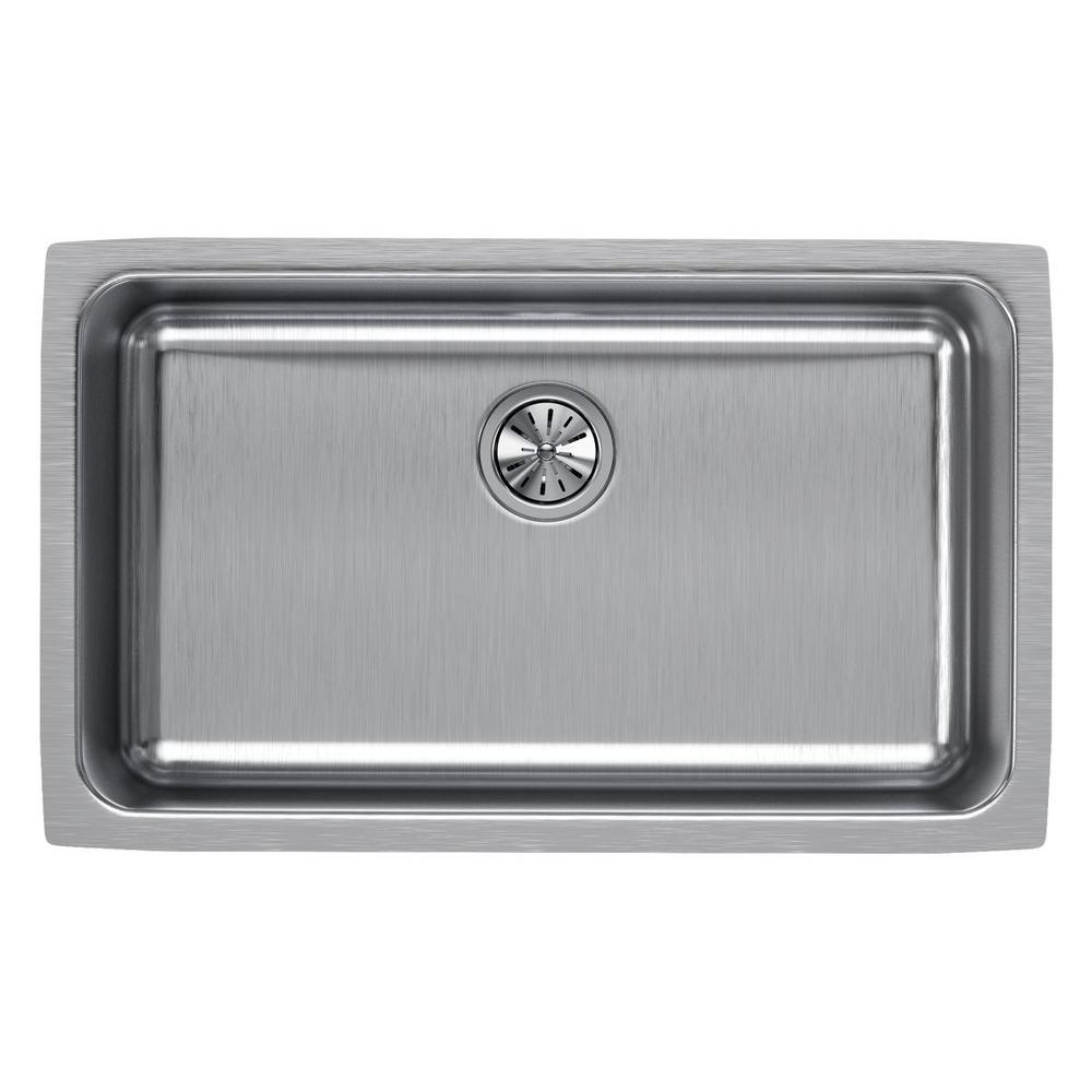 Elkay Lustertone Undermount Stainless Steel 31 in. Single Bowl Kitchen Sink