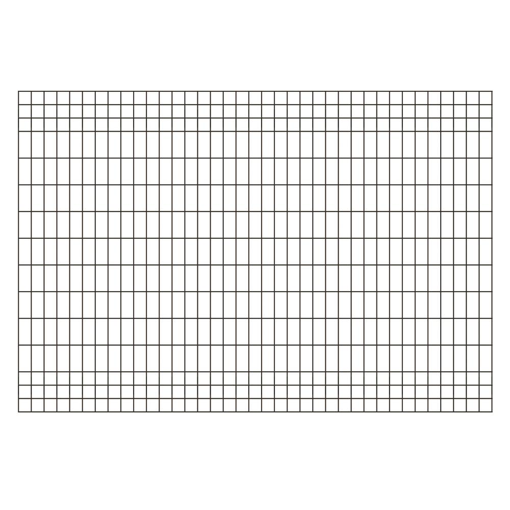 forgeright deco grid 4 ft x 6 ft black steel fence panel 862217