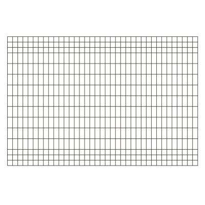 Deco Grid 4 ft. x 6 ft. Black Steel Fence Panel