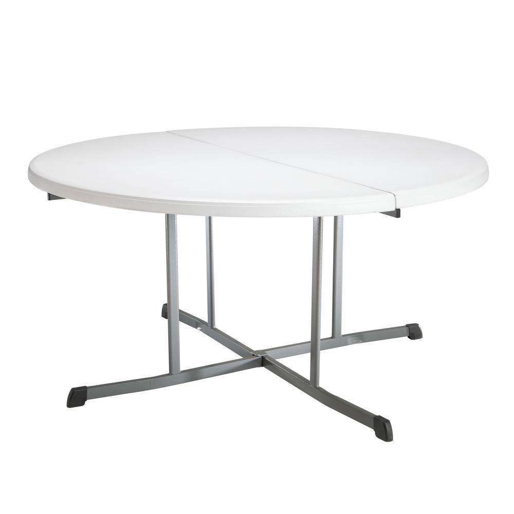 Lifetime White Granite Round Folding Table