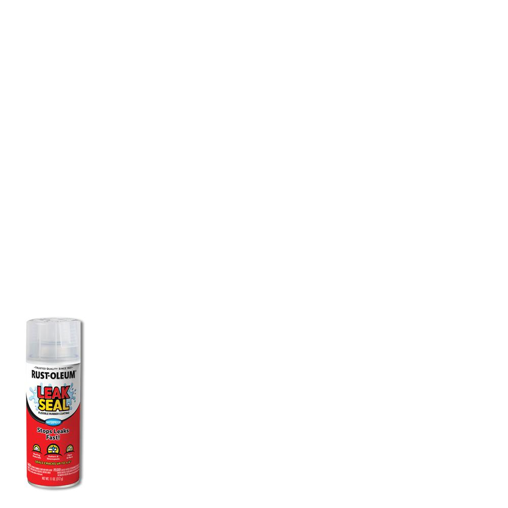 Rust-Oleum Stops Rust 11 oz. LeakSeal Clear Flexible Rubber Coating Spray Paint