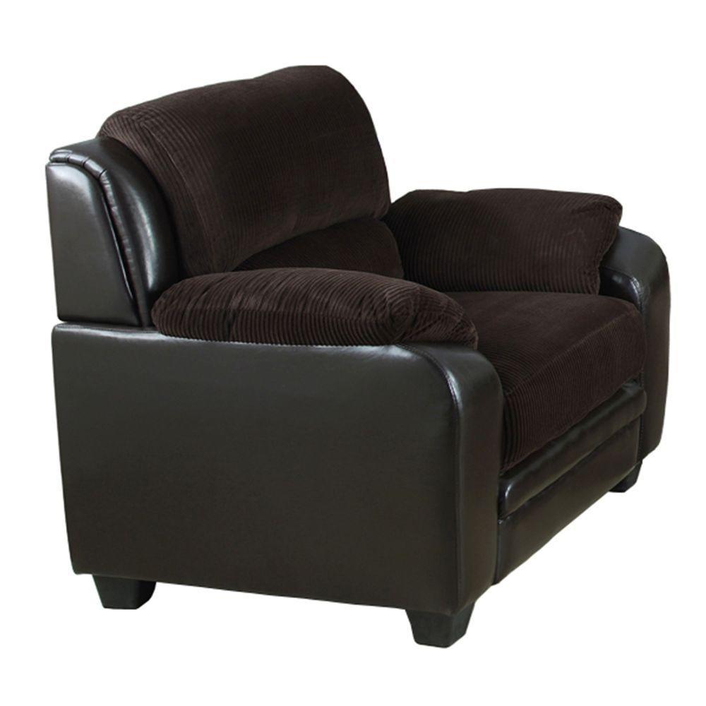 Barton Chocolate Brown Corduroy Arm Chair
