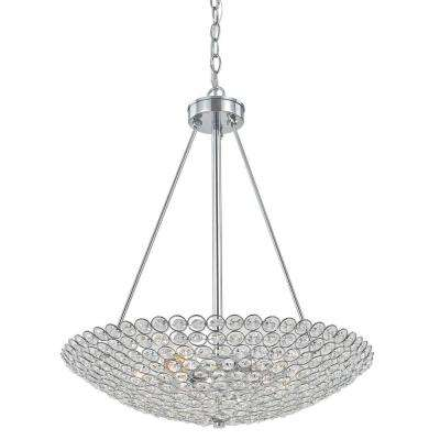 Barclay 20 in. Chrome Crystal Chandelier