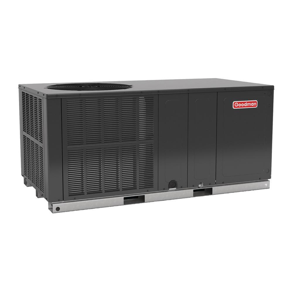 Goodman 3 5 Ton 16 Seer R 410a Horizontal Package Air Conditioner Heat Pump Gph1642h41 The Home Depot