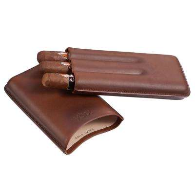 Legend Burgundy Genuine Leather Cigar Case