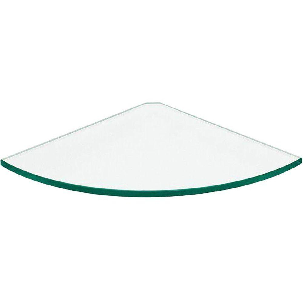 Bunnings Glass Corner Shelf