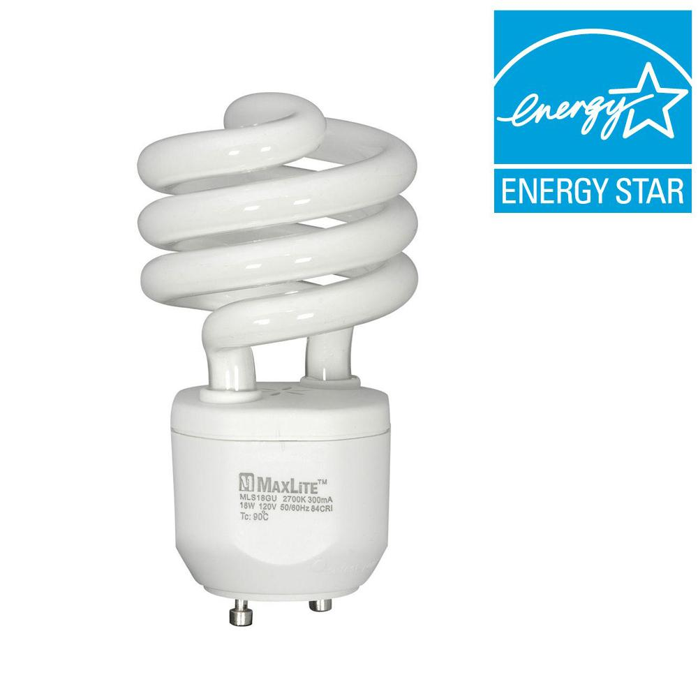 Maxlite 75W Equivalent Soft White (2700K) Spiral CFL Light Bulb