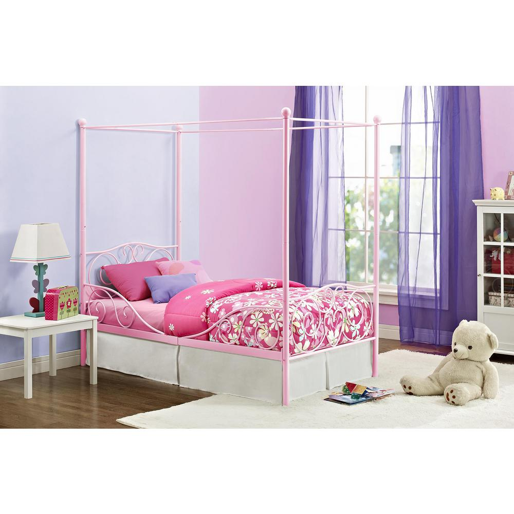 This review is fromCanopy Pink Twin Size Bed Frame  sc 1 st  Home Depot & DHP Pewter Twin Canopy Bed-4020959 - The Home Depot