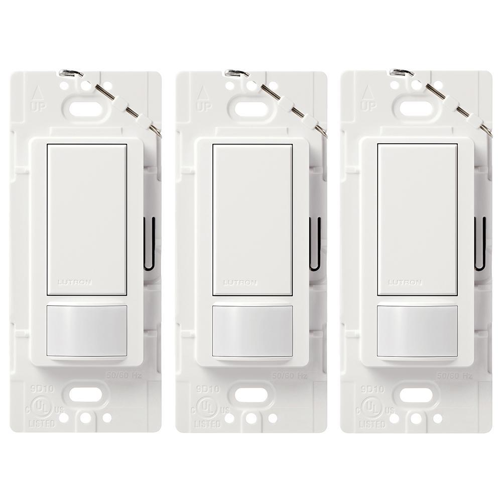 2 Amp Single-Pole Maestro Motion Sensor Switch, White (3-Pack)