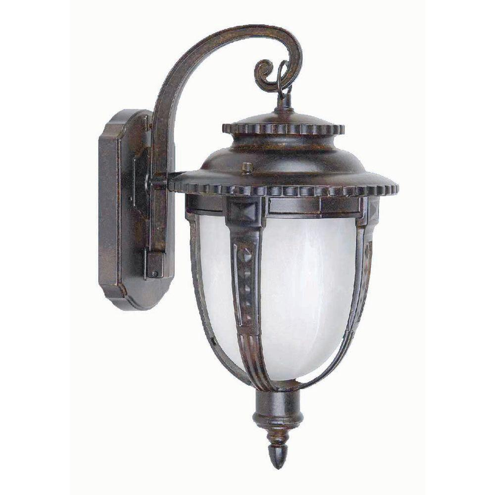 Yosemite Home Decor Brina Collection 1-Light Brown Outdoor Wall-Mount Lamp