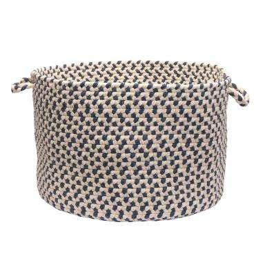 Dogwood 18 in. x 18 in. x 12 in. Denim Round Wool-Blend Basket