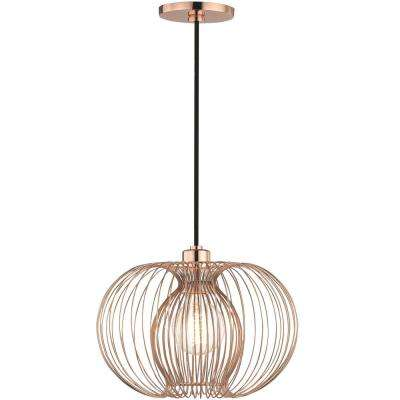 Jasmine 1-Light Polished Copper Small Pendant
