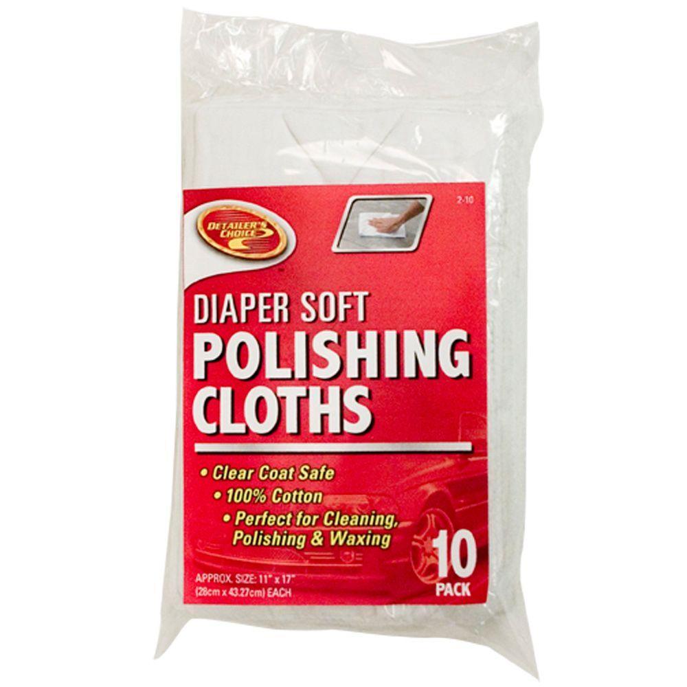 Detailer's Choice Diaper Soft Polishing Cloths 10-Pack-DISCONTINUED