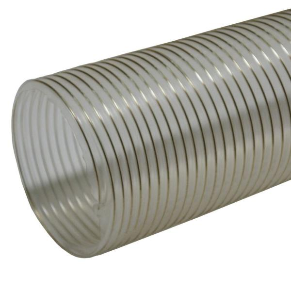 1.5 in. D x 25 ft. PVC Coil General Purpose Flexible Ducting in Clear
