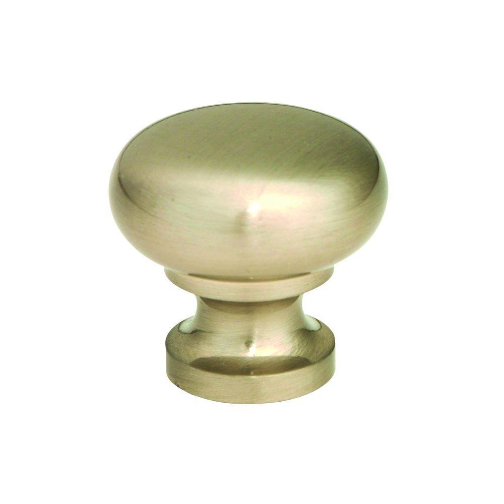 1-1/4 in. Round Knob in Satin Nickel (250-Pack)