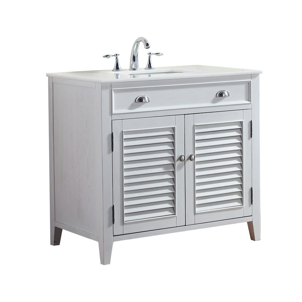 Palm Beach In W X In D Vanity In White With Marble Vanity - Bathroom vanities palm beach