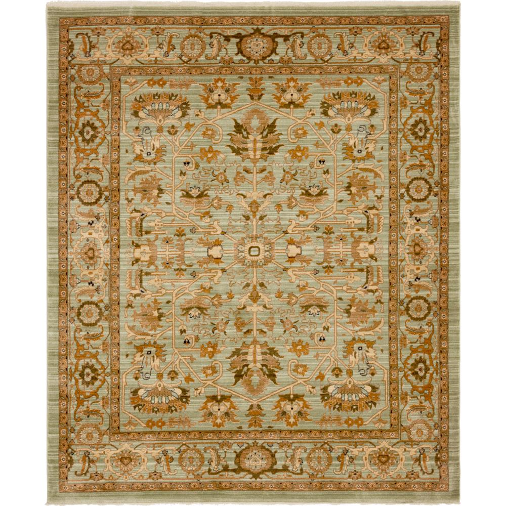 Graham And Green Emperor Rug: Unique Loom Light Green 8 Ft. X 10 Ft. Graham Rug-3144396