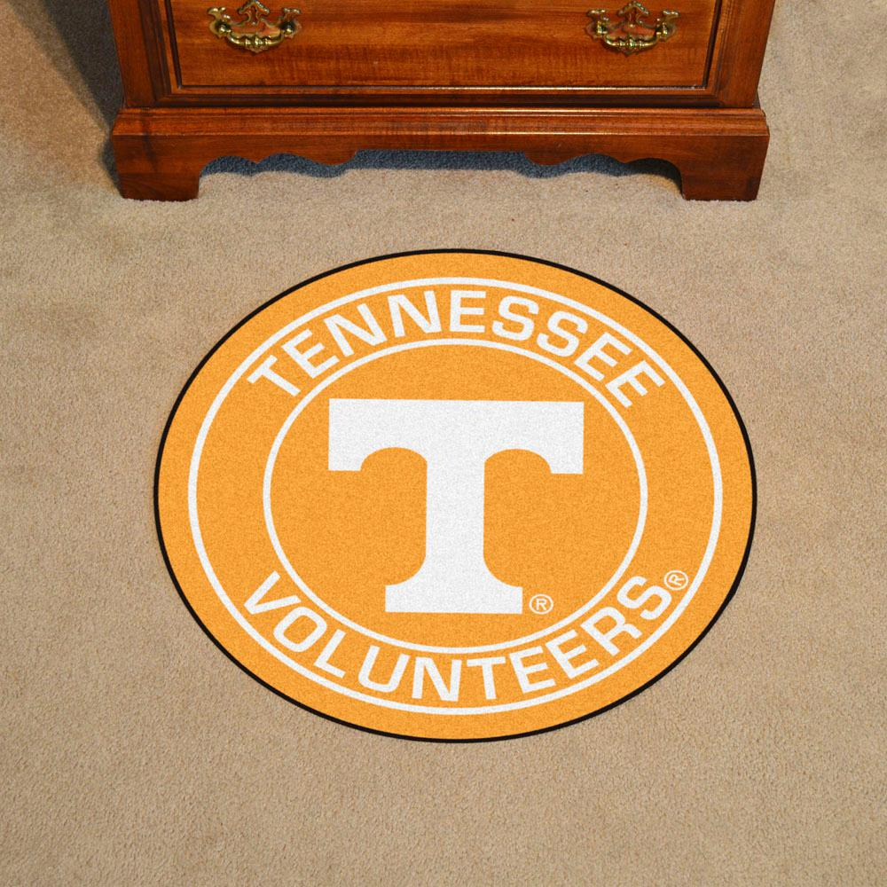 Groovy Fanmats Ncaa University Of Tennessee Orange 2 Ft X 2 Ft Round Area Rug Dailytribune Chair Design For Home Dailytribuneorg
