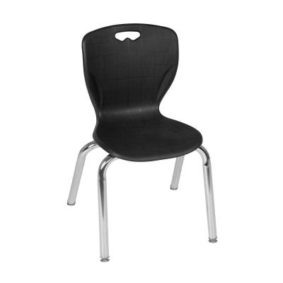 Andy Black Plastic and Metal Stacking Classroom Chair with 15 in. Seat Height