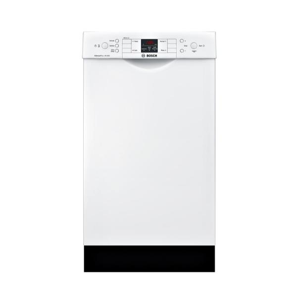 300 Series 18 in. ADA Compact Front Control Dishwasher in White with Stainless Steel Tub, 46dBA