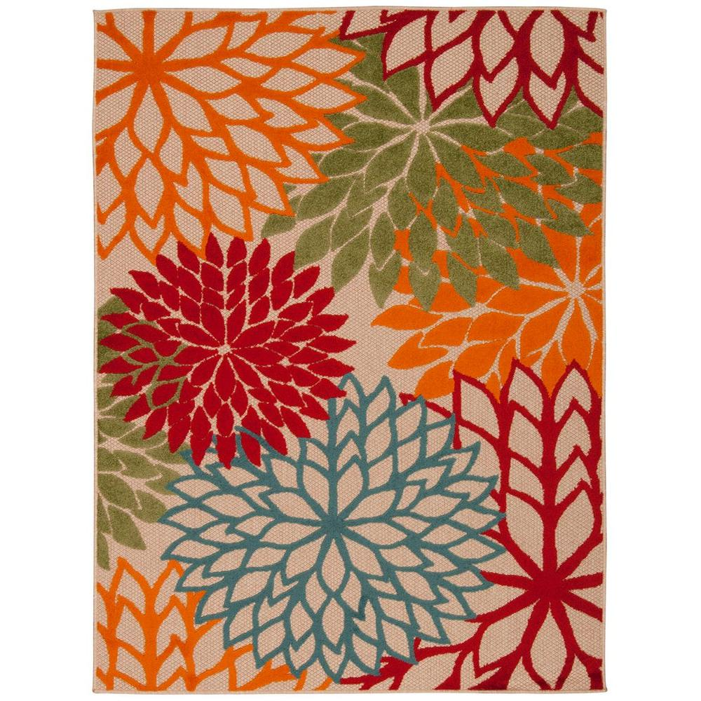Nourison Aloha Green 10 Ft X 13 Indoor Outdoor Area Rug 242709 The Home Depot