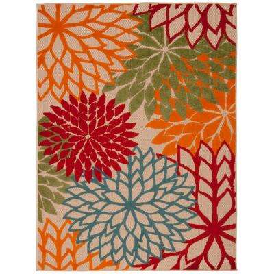 Aloha Green 7 ft. 10 in. x 10 ft. 6 in. Indoor/Outdoor Area Rug
