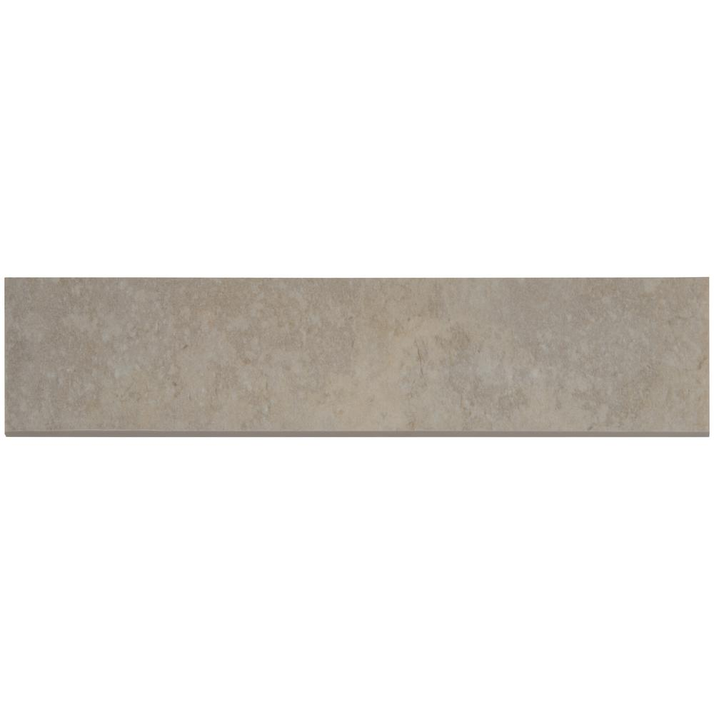 MSI Tempest Grey Bullnose 3 in. x 13 in. Glazed Ceramic Wall Tile (10.83 lin. ft. / case)