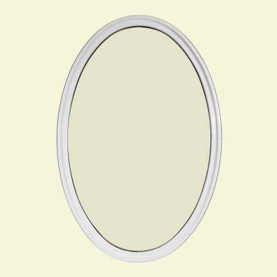 30 in. x 48 in. Oval White 6-9/16 in. Jamb 3-1/2 in. Interior Trim Geometric Aluminum Clad Wood Window