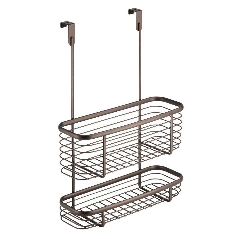 InterDesign Axis Over The Cabinet X3 Basket In Bronze 56171   The Home Depot