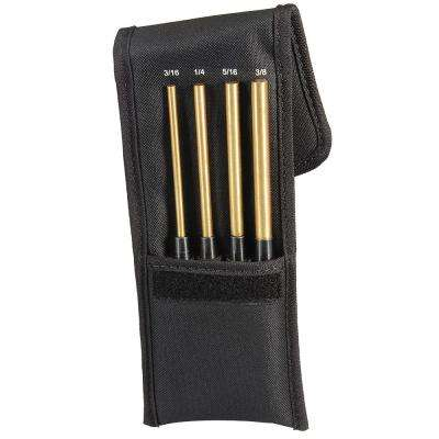 Brass Drive Pin Punch Set (4-Piece)