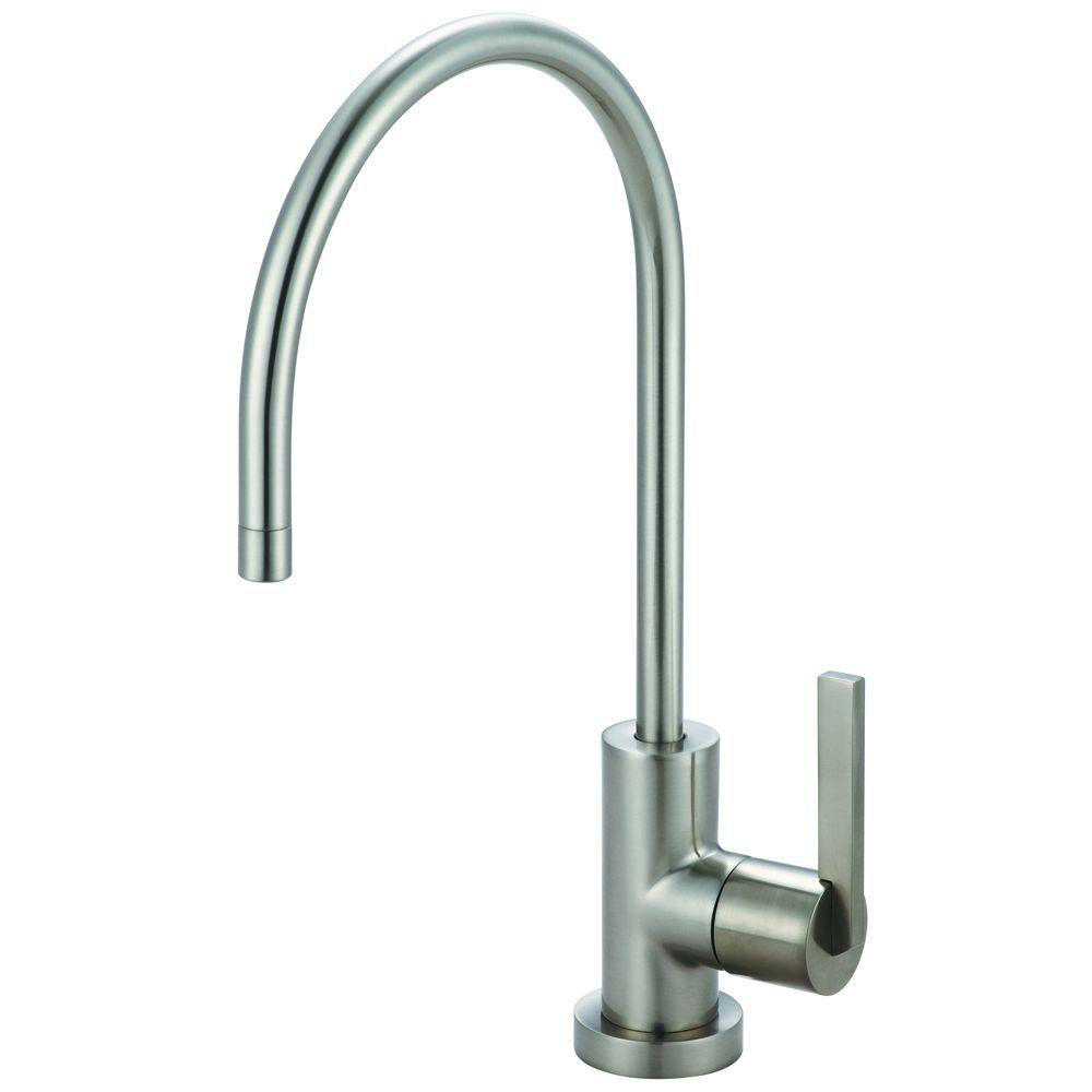 Replacement Drinking Water Single Handle Beverage Faucet In Satin Nickel  For Filtration Systems