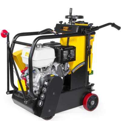 GX 390 Honda Engine 18 in. Walk-Behind Concrete Saw Cement Walk Behind No Blade