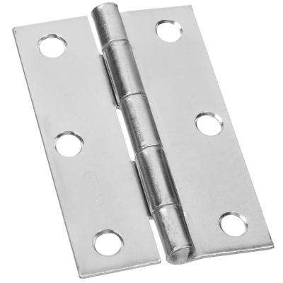 3 in. Narrow Utility Hinge Non-Removable Pin with Screws