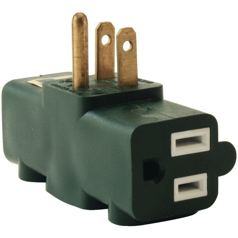 Axis 3 Outlet Heavy Duty Grounding Adapter 45092 The