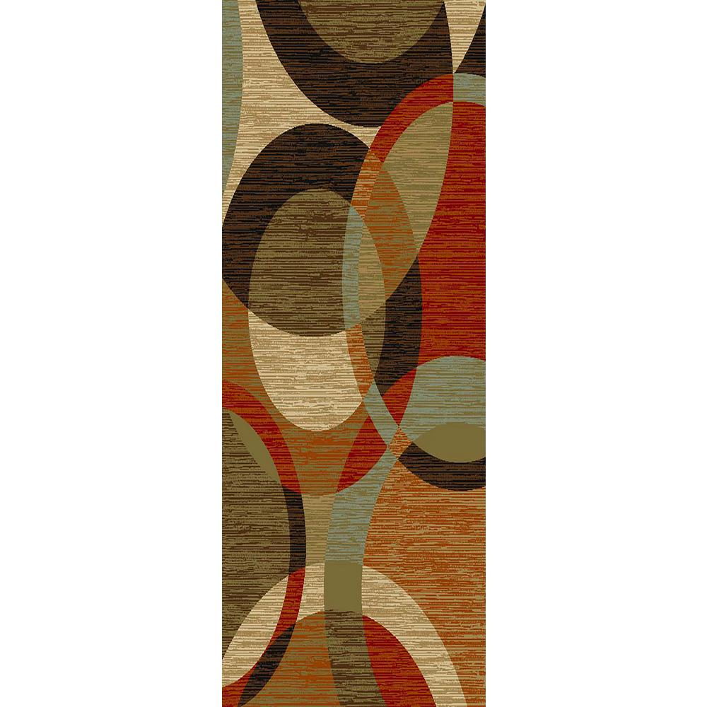 MAXY HOME Hamam Collection Multi 2 ft. x 5 ft. Runner Rug