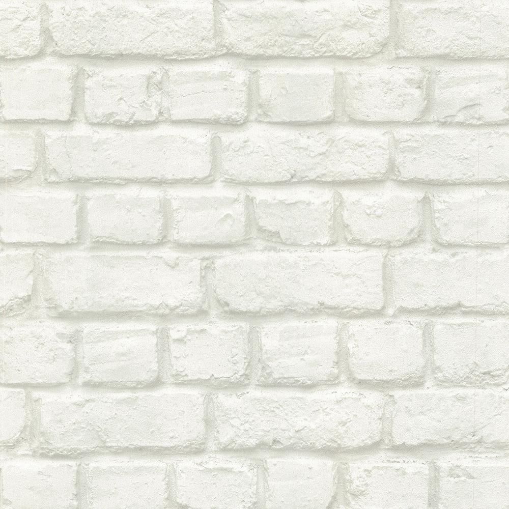 56.4 sq. ft. Chicago Dove Brick Wallpaper
